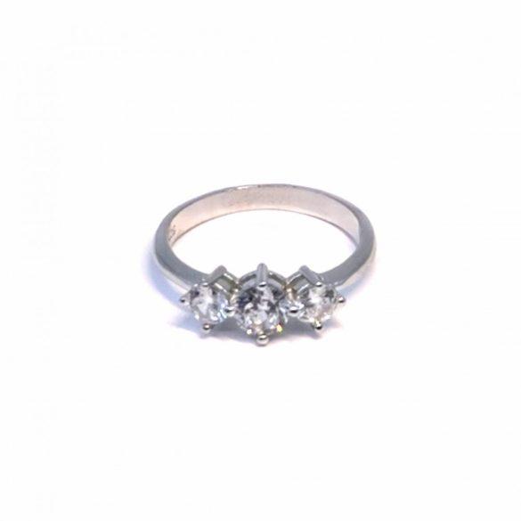 3 köves gyűrű  - R-0088/Ag 925+ Rh1